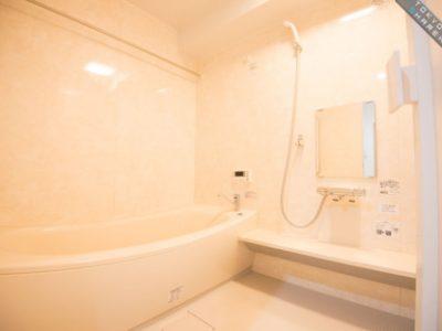 広い浴槽も完備