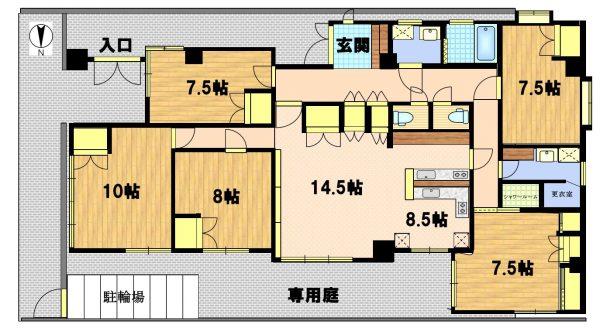 3階建てビルの1階全てがシェアハウスとなっています