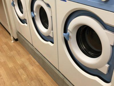 1階に24時間使えるコインランドリー。洗濯1階200円。