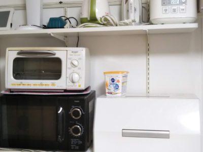 炊飯器、アイロン、ミシン、電気ケトル、ソーダストリーム(炭酸水)、トースター、電子レンジ、食洗機等が自由にお使いいただけます!快適に生活できます!