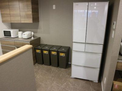 シェアキッチンにある冷蔵庫