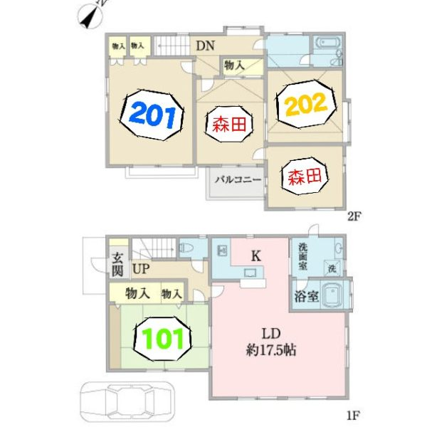 図面では繋がっているように見える部屋がありますがリフォーム済です