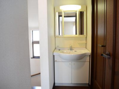 2階の洗面所。