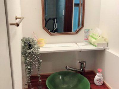洗面台 新型コロナ対策としてペーパータオルを常備しています